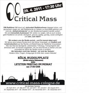 CM Flyer April 2011